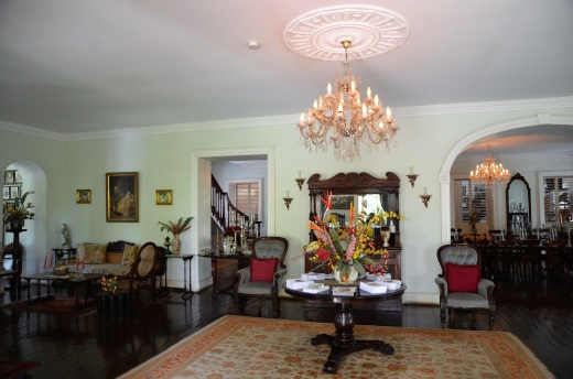 The main room of the plantation house