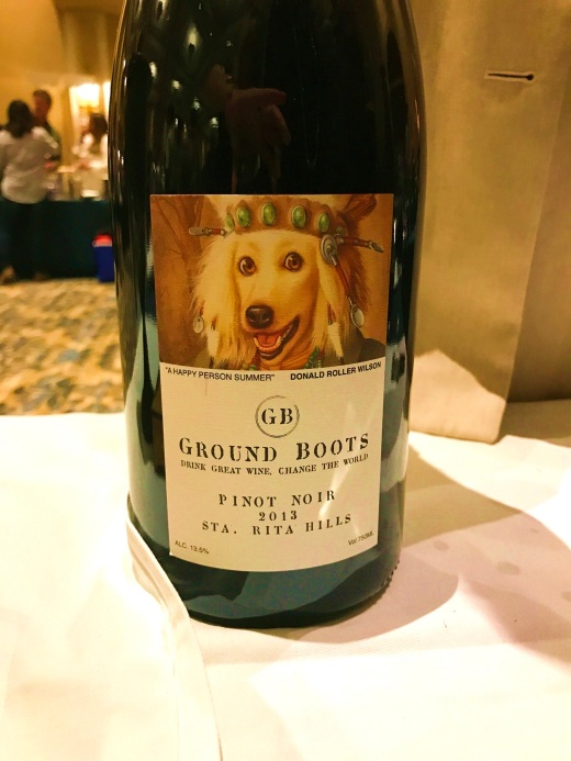 The wine maker told us that some of the proceeds of the sale of her wines go to a dog rescue charity
