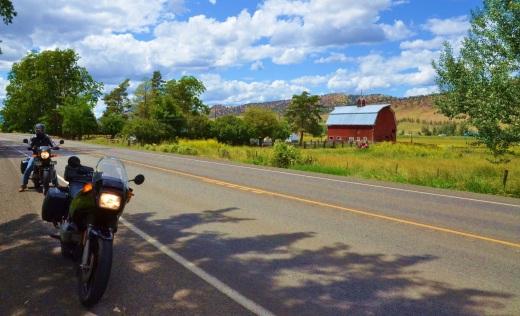 bikes and barn